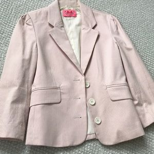 Juicy Couture pale pink pinstripe blazer